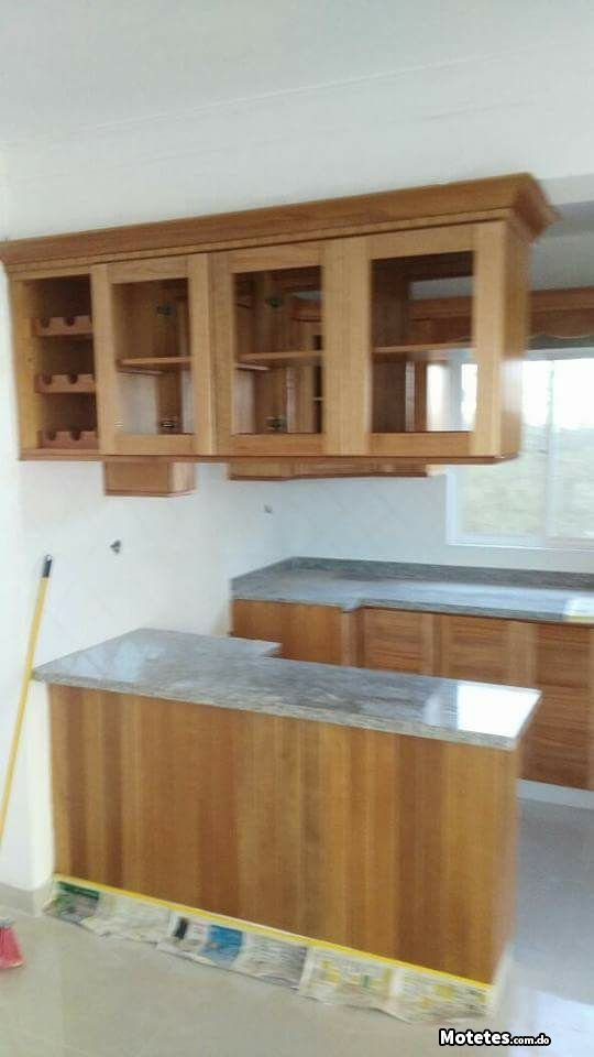 Dise o de gabinete para cocina en color natural motetes - Precio modulos de cocina ...