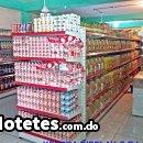 Estantería o Tramería metálica para exhibición de mercancía